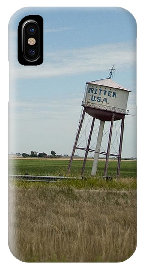 Water IPhone X Case featuring the photograph Water Tower by Steven Natanson