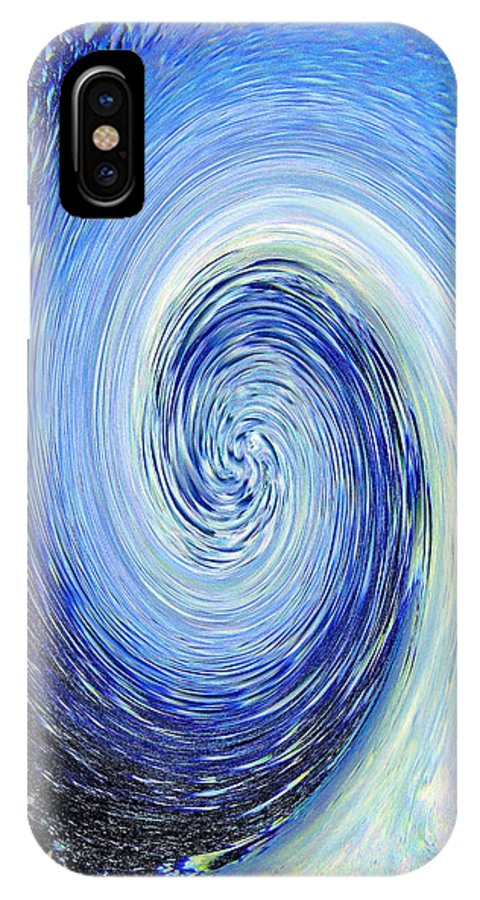 Blue IPhone X Case featuring the photograph Water Twirl Blue by Steve Somerville