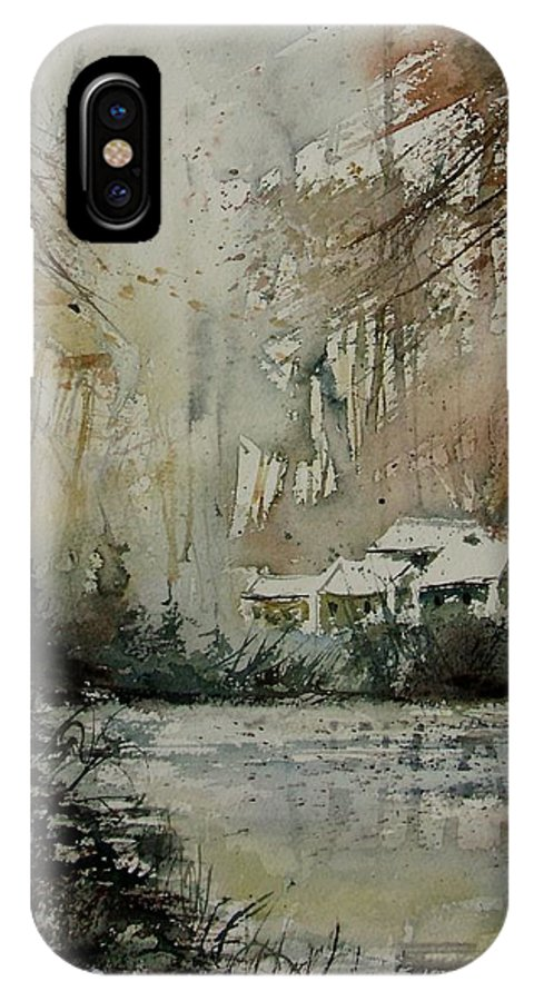 Landscape IPhone Case featuring the painting Watercolor 070608 by Pol Ledent