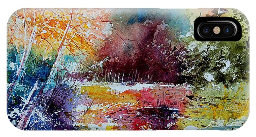 Pond IPhone Case featuring the painting Watercolor 140908 by Pol Ledent