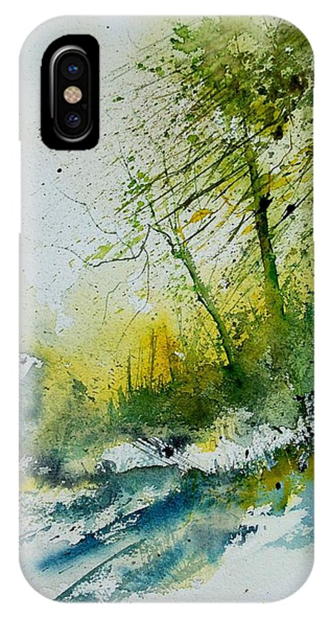 River IPhone Case featuring the painting Watercolor 181207 by Pol Ledent