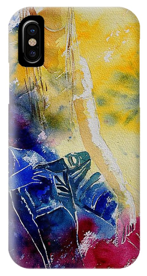 Girl Nude IPhone Case featuring the painting Watercolor 21546 by Pol Ledent