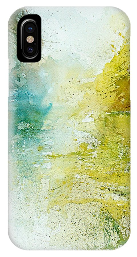 Pond Nature Landscape IPhone Case featuring the painting Watercolor 24465 by Pol Ledent