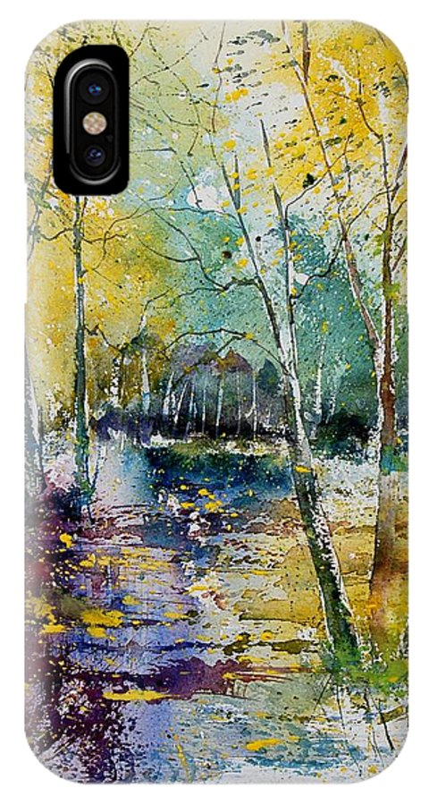 Pond IPhone Case featuring the painting Watercolor 280809 by Pol Ledent