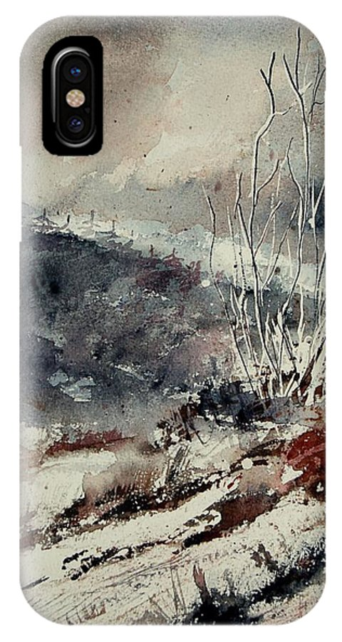 Snow IPhone Case featuring the print Watercolor 446 by Pol Ledent