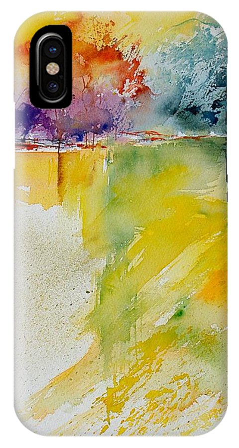 Pond IPhone Case featuring the painting Watercolor 800142 by Pol Ledent