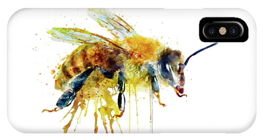 buy online 1e8d0 e1e37 Watercolor Bee IPhone X Case
