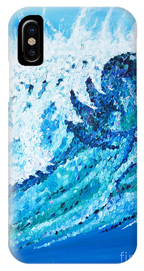 Ocean IPhone X Case featuring the painting Watercolor by JoAnn DePolo