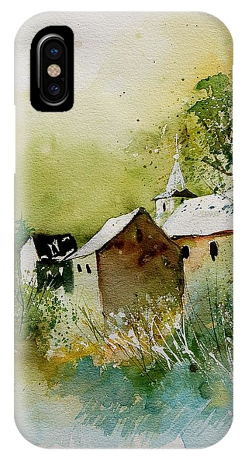 Landscape IPhone Case featuring the painting Watercolor Sosoye by Pol Ledent