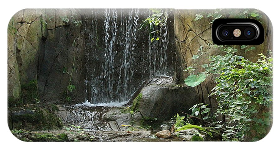 Waterfall IPhone X / XS Case featuring the photograph Waterfall 1 by Rebecca Pavelka