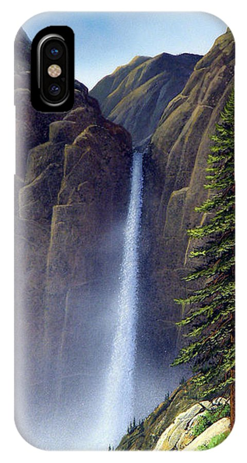 Wilderness IPhone Case featuring the painting Waterfall by Frank Wilson
