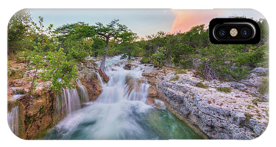 Texas Hill Country IPhone X Case featuring the photograph Waterfall In The Texas Hill Country 3 by Rob Greebon
