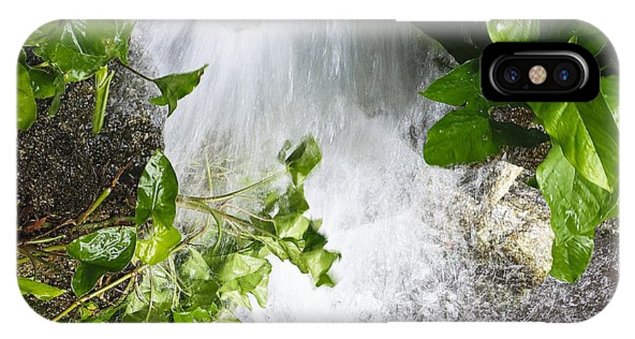 Waterfall IPhone X Case featuring the photograph Waterfall by Kenneth Albin