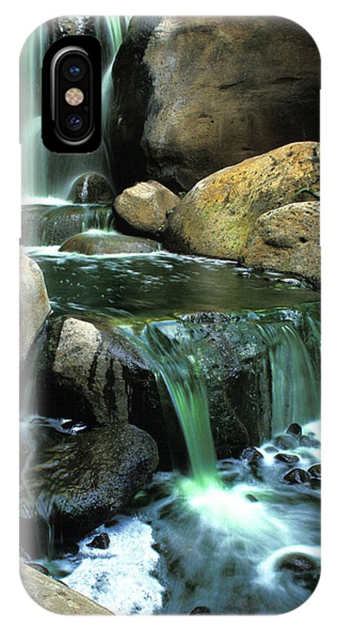 Water IPhone X Case featuring the photograph Waterfall On Maui by Carl Purcell