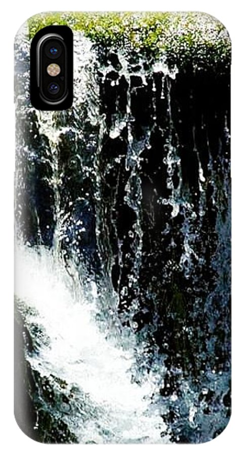 IPhone X Case featuring the photograph Waterfall Up Close by Crystal Blair