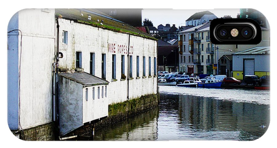 River IPhone X Case featuring the photograph Waterfront Factory by Tim Nyberg