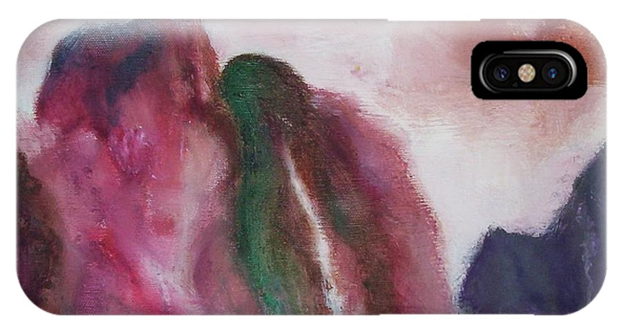 Abstract Painting IPhone X Case featuring the painting Waterfull by Suzanne Udell Levinger