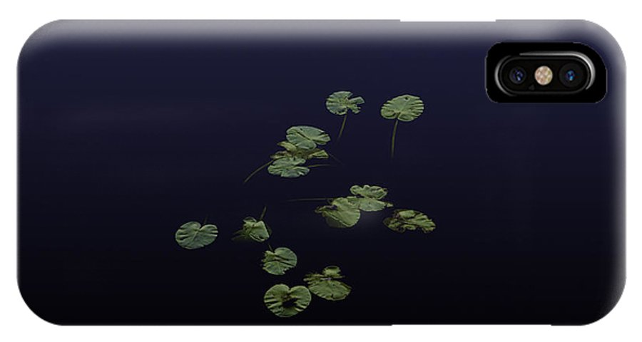 Waterlily IPhone X Case featuring the photograph Waterlily Leaves by Laszlo Gyorsok