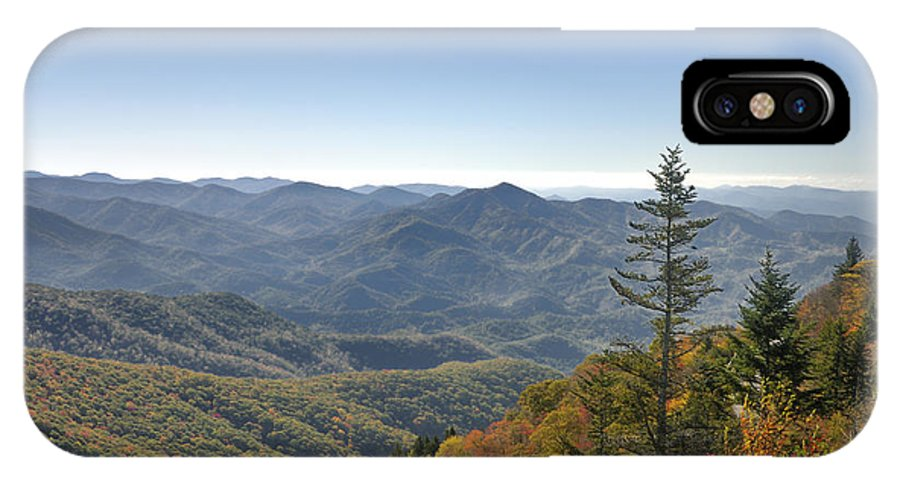 Blue Ridge Parkway IPhone X Case featuring the photograph Waterrock Knob On Blue Ridge Parkway by Darrell Young