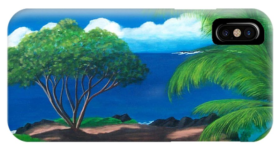 Water IPhone X Case featuring the painting Water's Edge by Nancy Nuce