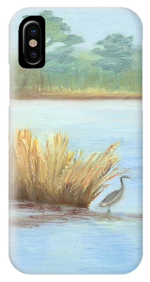 Water Paintings IPhone X Case featuring the painting Waterside by Deborah Butts