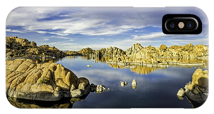 Watson Lake IPhone X Case featuring the photograph Watson Lake Panoramic 30x12 by Tom Clark