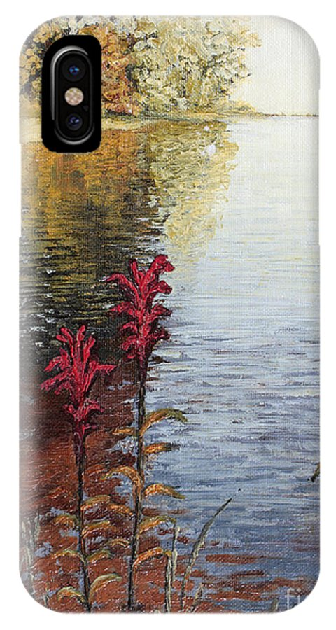 Landscape IPhone X Case featuring the painting Watts Bar Lake Rockwood Tn by Todd Blanchard