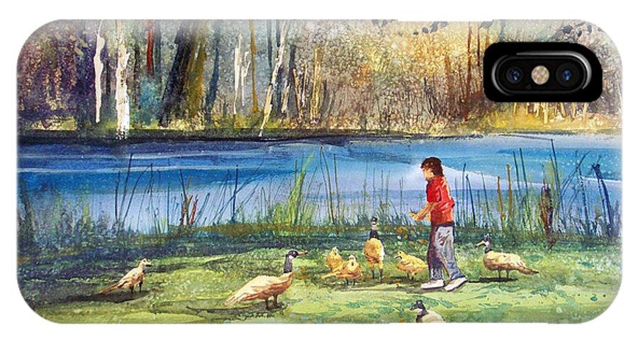 Ryan Radke IPhone X Case featuring the painting Wautoma Mill Pond by Ryan Radke