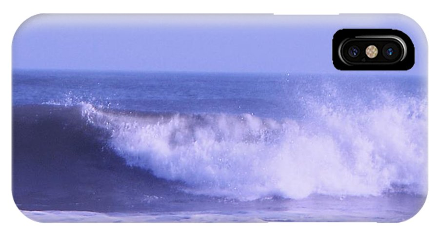 Wave IPhone X Case featuring the photograph Wave At Jersey Shore by Eric Schiabor