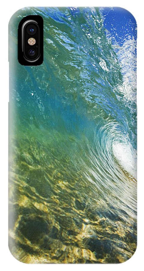 Aqua IPhone X Case featuring the photograph Wave - Makena by MakenaStockMedia