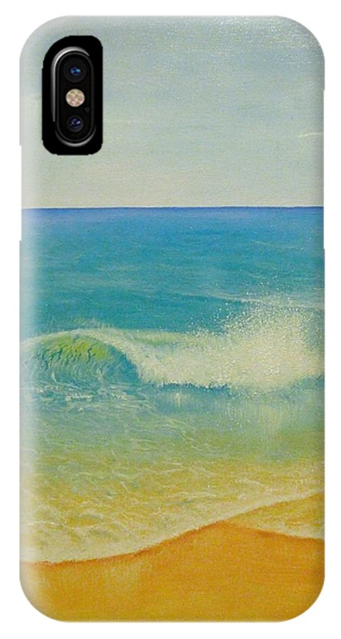 Wave IPhone X Case featuring the painting Wave by Nedin Art