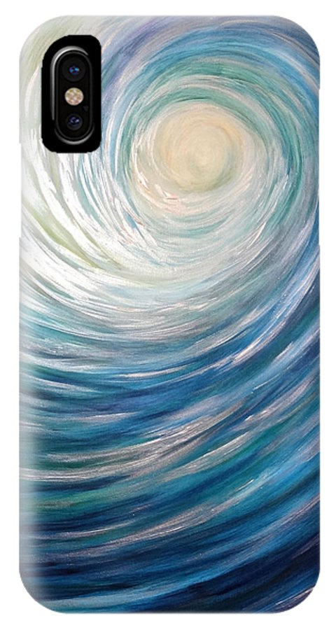 Wave IPhone X Case featuring the painting Wave Of Light by Michelle Pier