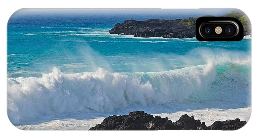 Wave Spray IPhone X Case featuring the photograph Wave Spray by Kimberly Reeves