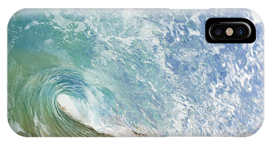 Amazing IPhone X Case featuring the photograph Wave Tube along Shore by MakenaStockMedia - Printscapes