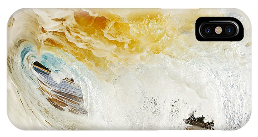 Amazing IPhone X Case featuring the photograph Wave Whitewash by MakenaStockMedia - Printscapes