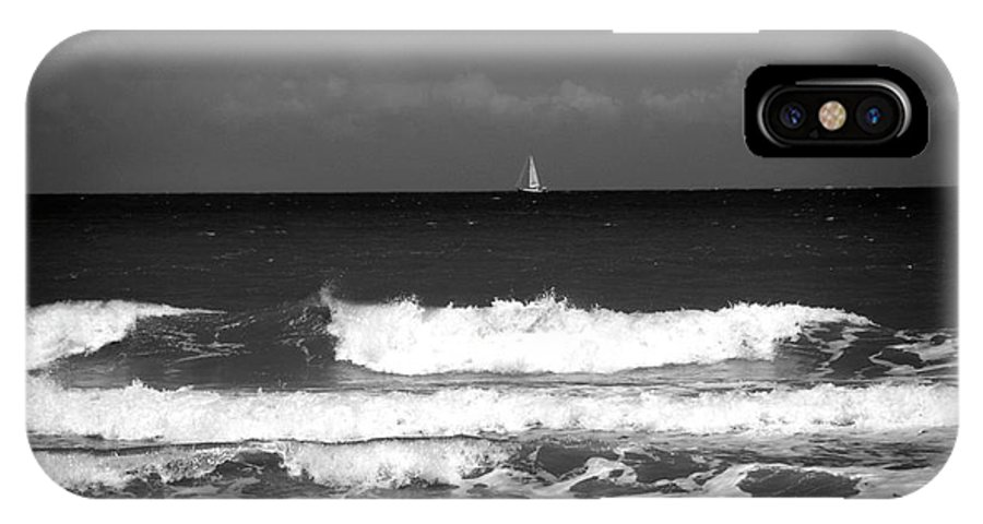 Waves IPhone X Case featuring the photograph Waves 4 In Bw by Susanne Van Hulst