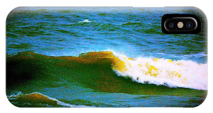 Ocean IPhone X Case featuring the painting Waves by CHAZ Daugherty