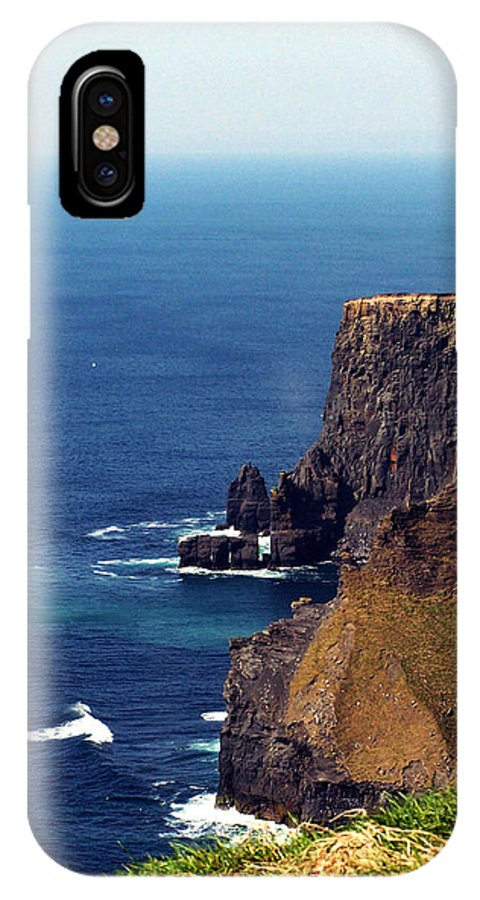 Irish IPhone Case featuring the photograph Waves Crashing At Cliffs Of Moher Ireland by Teresa Mucha