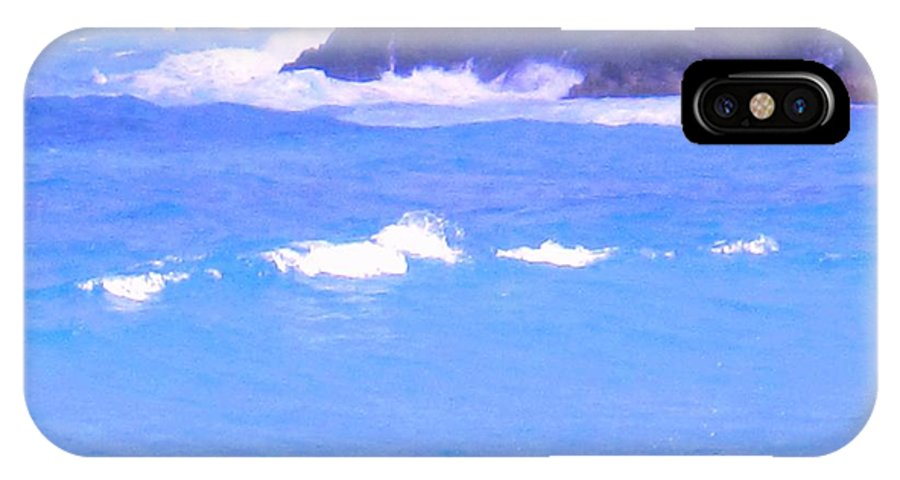 Ocean IPhone X Case featuring the photograph Waves Crashing by Ian MacDonald