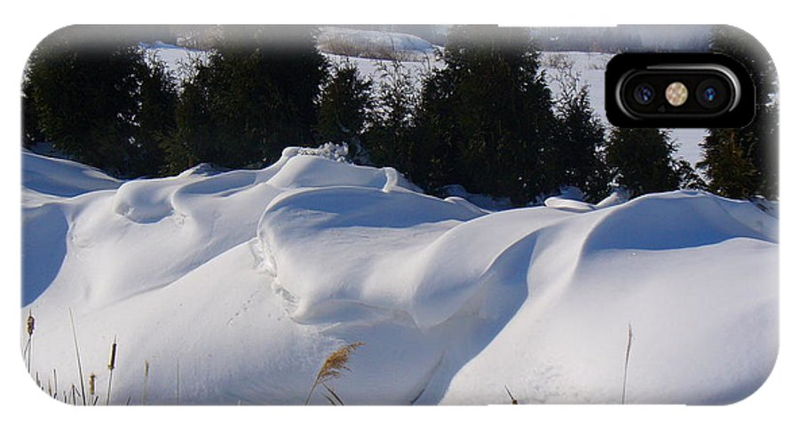 Snow IPhone X Case featuring the photograph Waves of Snow by Peggy King