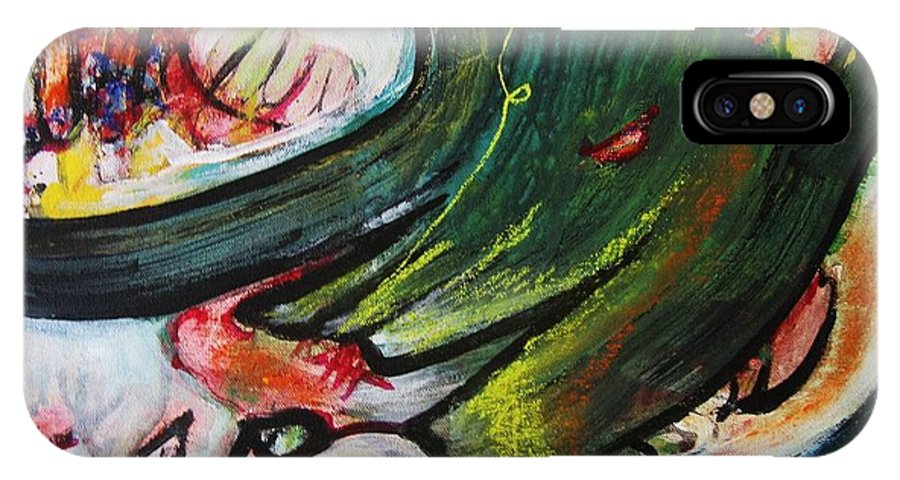 Abstract Paintings Paintings Abstract Art Paintings IPhone X Case featuring the painting Waves by Seon-Jeong Kim