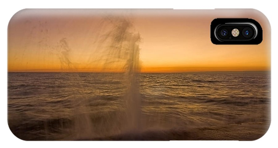 Waves IPhone X Case featuring the photograph Waves splash at dawn by Sven Brogren
