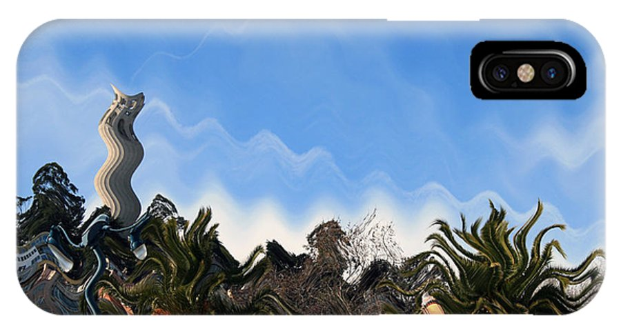 Sanfrancisco IPhone Case featuring the digital art Wavey Frisco by Joshua Sunday