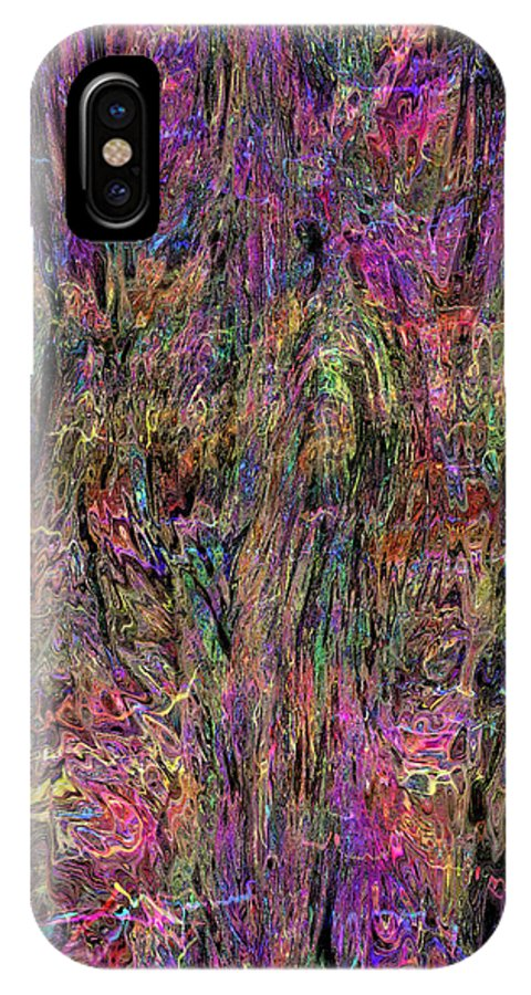 Digital Abstract IPhone X Case featuring the digital art Wavy 032015 by Matt Lindley