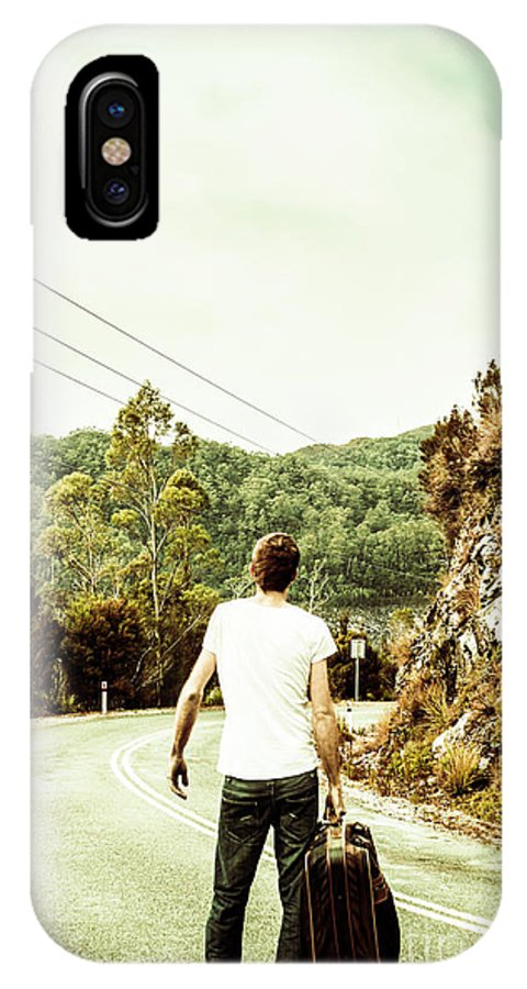 Tourist IPhone X Case featuring the photograph Way Of Old Travel by Jorgo Photography - Wall Art Gallery
