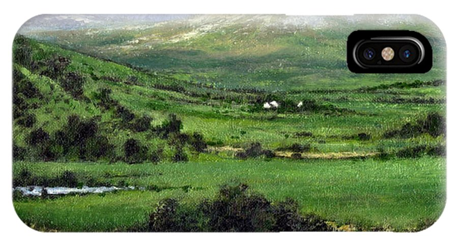 Landcape IPhone X Case featuring the painting Way To Ardara Ireland by Jim Gola