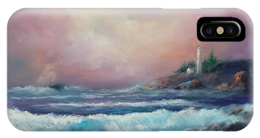 Ocean IPhone X Case featuring the painting Wayward Mariner by Sally Seago