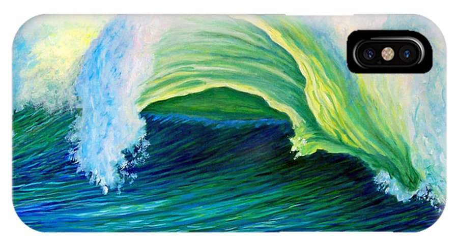 Seascape IPhone X Case featuring the painting We Are One by Brian Commerford