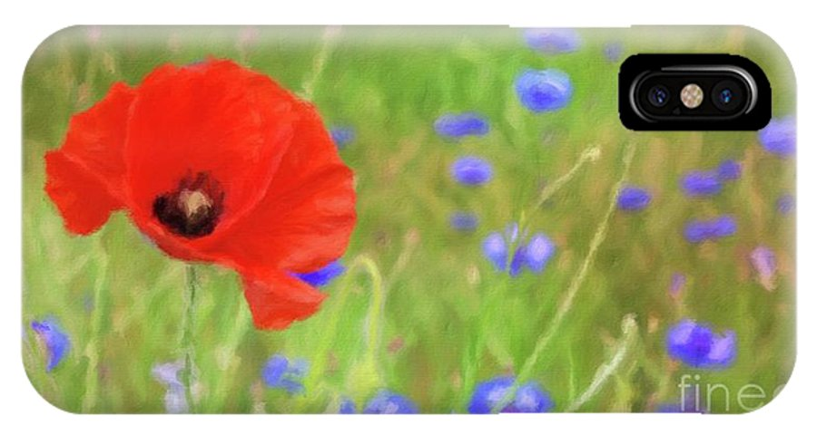 Landscape IPhone X Case featuring the painting We Will Remember Them by Sarah Kirk