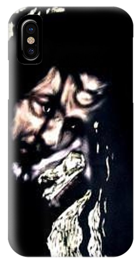 Portrait IPhone X Case featuring the mixed media Wear My Crown Down by Chester Elmore